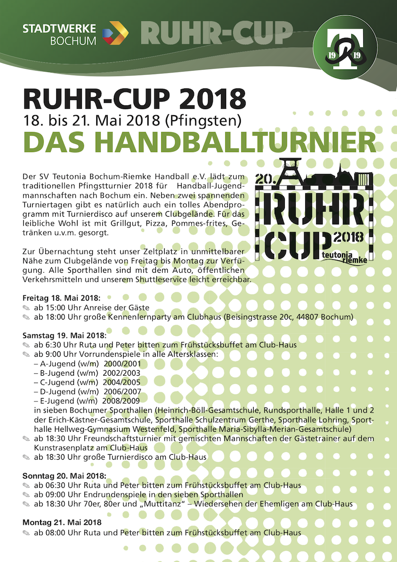 Ruhrcup 2018 Einladung 800